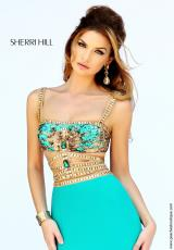 Sherri Hill 32133.  Available in Black, Emerald, Ivory, Light Blue, Nude, Purple, Red, Royal