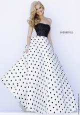 Sherri Hill 32186.  Available in Black/White/Black