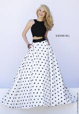 Sherri Hill 32215.  Available in Ivory/Black