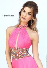 Sherri Hill 32225.  Available in Coral/Multi, Purple/Multi
