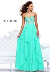 Sherri Hill 3874.  Available in Green, Light Blue, Lilac, Pink, Yellow