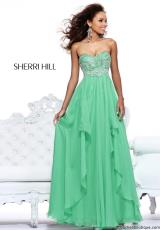Sherri Hill 3874.  Available in Coral, Green, Light Blue, Lilac, Nude, Pink, Yellow