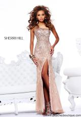Sherri Hill 8509.  Available in Nude, Seafoam, Strawberry, Turquoise