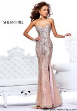 Sherri Hill 8513.  Available in Light Blue, Nude, Pink, Seafoam, Strawberry, Yellow