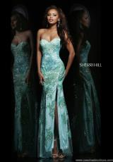 Sherri Hill 9707.  Available in Gunmetal, Mint, Pink