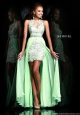 Sherri Hill 9713.  Available in Coral, Green, Ivory
