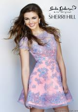 Sherri Hill Short 11063.  Available in Blue/Peach