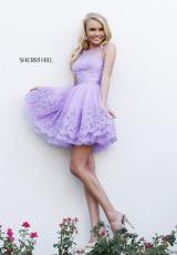 Sherri Hill Short 11091.  Available in Aqua, Black, Blush, Ivory, Lilac, Red