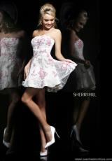 Sherri Hill Short 11145.  Available in Ivory/Pink