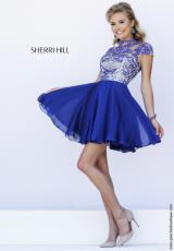 Sherri Hill Short 1938.  Available in Navy, Teal