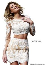 Sherri Hill Short 21371.  Available in Ivory/Nude