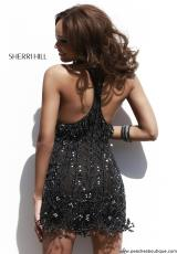 Sherri Hill Short 32005.  Available in Black/Nude