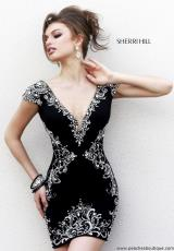 Sherri Hill Short 32031.  Available in Black/Silver