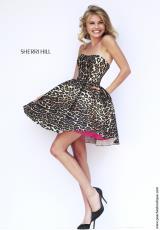 Sherri Hill Short 32106.  Available in Leopard