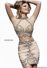 Sherri Hill Short 41005.  Available in Black, Nude, Royal, Turquoise