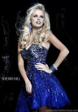 Sherri Hill Short 8524.  Available in Emerald, Navy, Purple, Royal, Strawberry