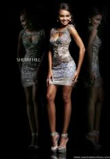Sherri Hill Short 9704.  Available in Gunmetal, Mint, Pink