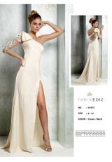 Tarik Ediz 91973.  Available in Black, Emerald, Ivory, Navy, Powder, Red