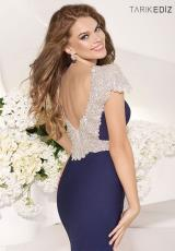 Tarik Ediz 92057.  Available in Black, Coral, Emerald, Navy, Powder, Red, Stone