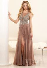Terani Evenings E3359.  Available in Tan