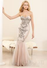 Terani Evenings E3377.  Available in Nude