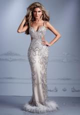 Terani Evenings GL2316.  Available in Silver/Nude