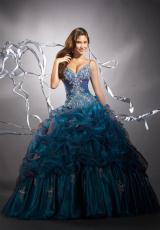 Tiffany Quinceanera 26644.  Available in Cherry/Gold, Claret/Black, Ivory/Ivory, Purple/Violet, Teal/Cobalt, White/White