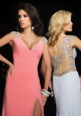 Tony Bowls Evenings TBE11417.  Available in Aqua, Light Coral, White