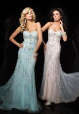 Tony Bowls Evenings TBE11445.  Available in Aqua, White/Nude