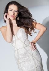 Tony Bowls Evenings TBE11536.  Available in Ivory/Silver