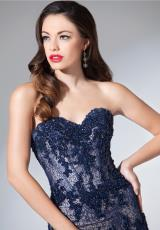 Tony Bowls Evenings TBE11549.  Available in Navy Blue/Nude