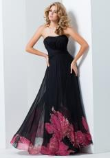 Tony Bowls Evenings TBE11564.  Available in Black/Red Print