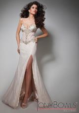 Tony Bowls Evenings TBE21360.  Available in White/Nude