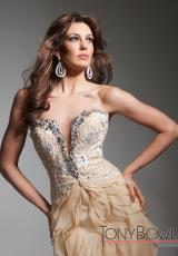 Tony Bowls Evenings TBE21362.  Available in Gold/Ivory