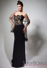 Tony Bowls Evenings TBE21390.  Available in Black/Nude