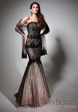 Tony Bowls Evenings TBE21394.  Available in Black/Nude