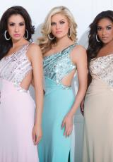 Tony Bowls Le Gala 114513.  Available in Aqua, Nude, Pink