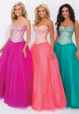 Tony Bowls Paris 114708.  Available in Coral, Emerald, Fuchsia