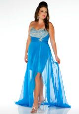 Cassandra Stone II Plus Size 64484K.  Available in Melon, Ocean Blue