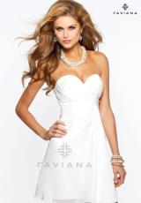 Faviana 7075.  Available in Black, Forest Green, Ivory, Magenta, Navy, Plum, Purple, Red