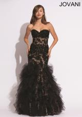 Jovani 79045.  Available in Black/Cafe