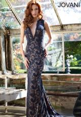 Jovani 78450.  Available in Ivory/Nude, Midnight/Nude, Navy/Nude, Red/Nude