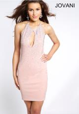 Jovani Cocktail 99074.  Available in Black, Blush, Navy, Red