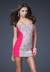 La Femme Short 16368.  Available in Black, Hot Pink, Nude, Peacock, Purple, White