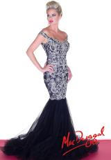 MacDuggal 81900R.  Available in Black/Silver, Nude/Silver