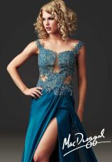 MacDuggal Couture 61355D.  Available in Magenta, Peacock