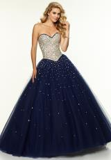 Mori Lee 97107.  Available in Nude/Coral, Nude/Fuchsia, Nude/Navy