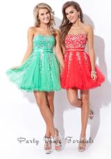 Party Time Formals 6462.  Available in Jade, Red