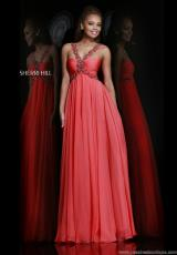 Sherri Hill 11072.  Available in Blue, Coral, Green, Ivory, Nude, Pink, Purple, Royal, Silver, Turquoise, Yellow