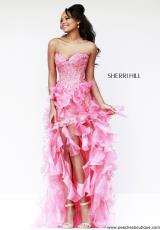 Sherri Hill 11093.  Available in Coral, Ivory, Lilac, Turquoise